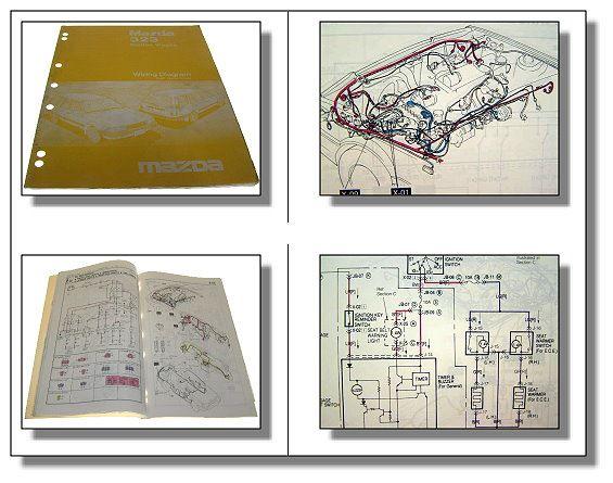 Mazda 323 Station Wagon Schaltplan Werkstatthandbuch 86 | eBay