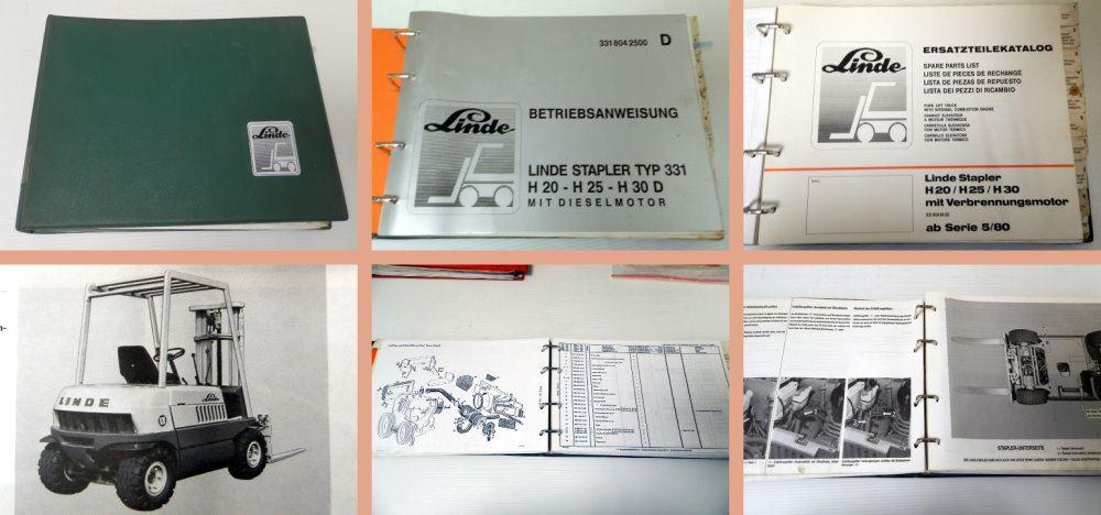 Buy Linde Saint Lueia H20/25 H30 Typ 331 ab Serie 5/80 ...