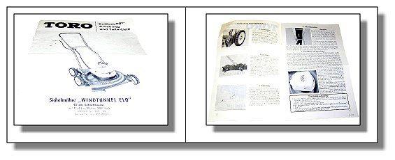 toro windtunnel elo 45 cm betriebsanleitung ersatzteile ebay. Black Bedroom Furniture Sets. Home Design Ideas