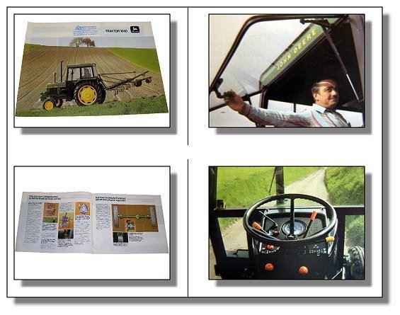 john deere 1040 traktor schlepper prospekt 1984 ebay. Black Bedroom Furniture Sets. Home Design Ideas
