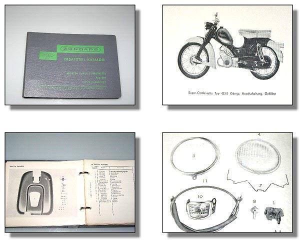z ndapp super combinette typ 433 ersatzteilkatalog 1960. Black Bedroom Furniture Sets. Home Design Ideas