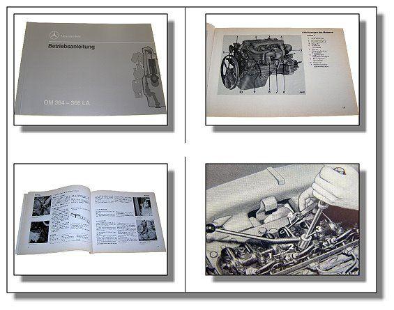 mercedes benz om364 bis 366 la motor betriebsanleitung ebay. Black Bedroom Furniture Sets. Home Design Ideas