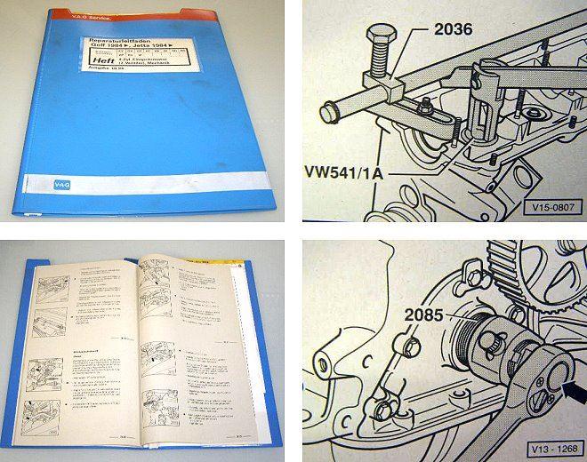 reparaturleitfaden vw golf 2 gti werkstatthandbuch 1 8. Black Bedroom Furniture Sets. Home Design Ideas