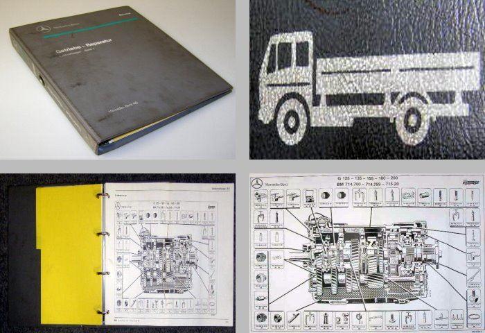mercedes mk sk lkw werkstatthandbuch getriebe g125 g200 ebay. Black Bedroom Furniture Sets. Home Design Ideas