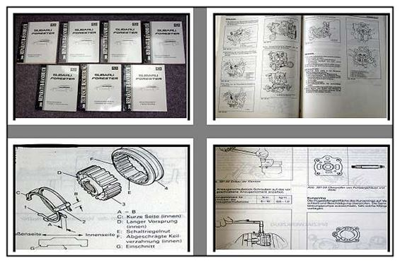 subaru forester 2000 werkstatthandbuch in 7 b nden ebay. Black Bedroom Furniture Sets. Home Design Ideas