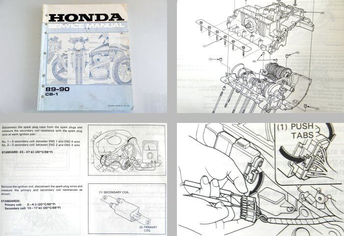 honda cb400f cb 1 service manual 1989 1990. Black Bedroom Furniture Sets. Home Design Ideas