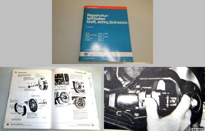 werkstatthandbuch vw golf 1 ab 1974 cabrio scirocco. Black Bedroom Furniture Sets. Home Design Ideas