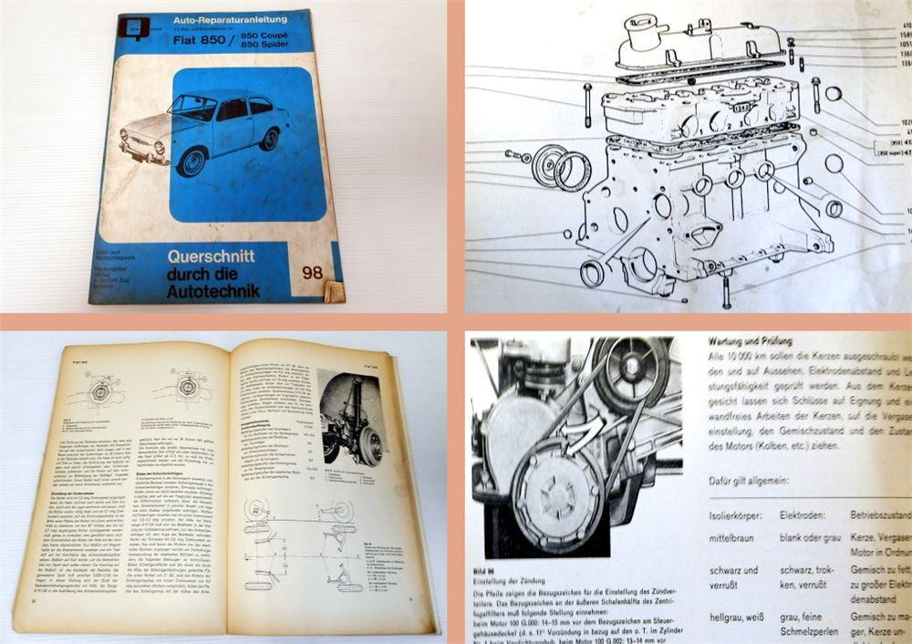 werkstatthandbuch fiat 850 coupe spider. Black Bedroom Furniture Sets. Home Design Ideas