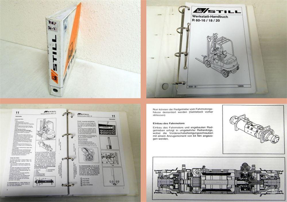 werkstatthandbuch still r60 16 r60 18 r60 20 stapler. Black Bedroom Furniture Sets. Home Design Ideas