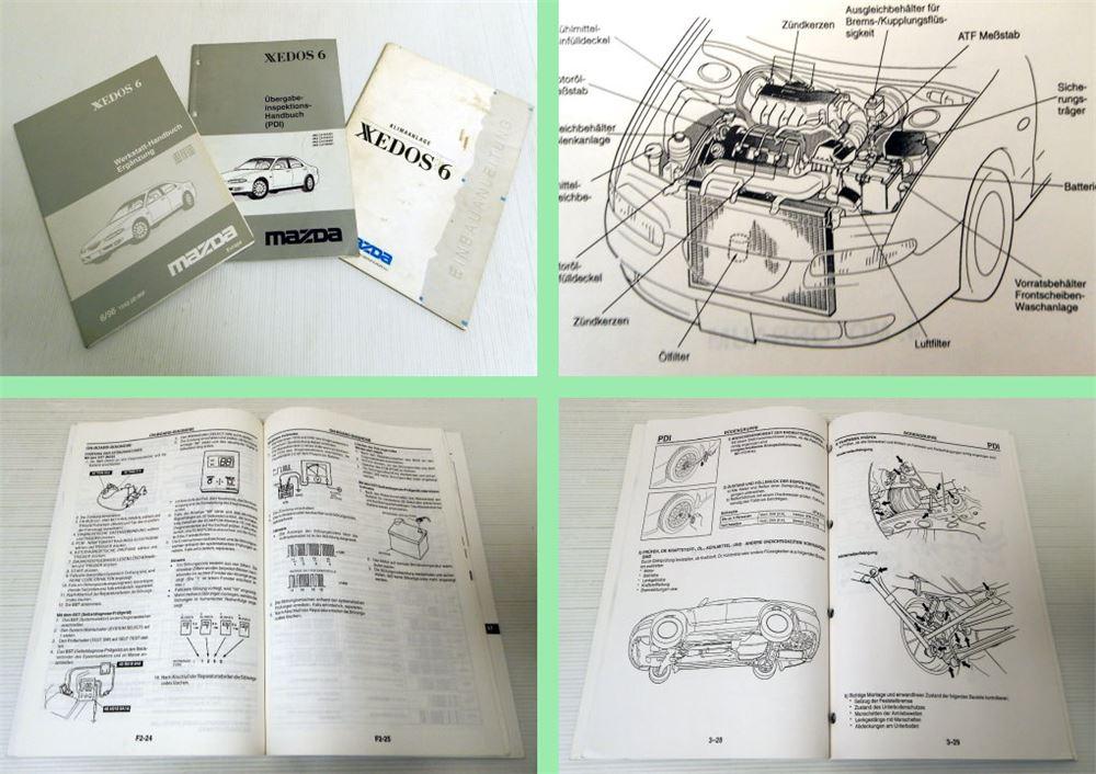 mazda xedos 6 werkstatthandbuch erg nzung 1996 einbau klimaanlage inspektion ebay. Black Bedroom Furniture Sets. Home Design Ideas