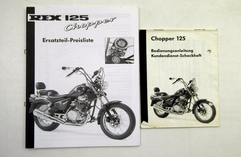 rex 125 chopper bedienungsanleitung kundendienst. Black Bedroom Furniture Sets. Home Design Ideas