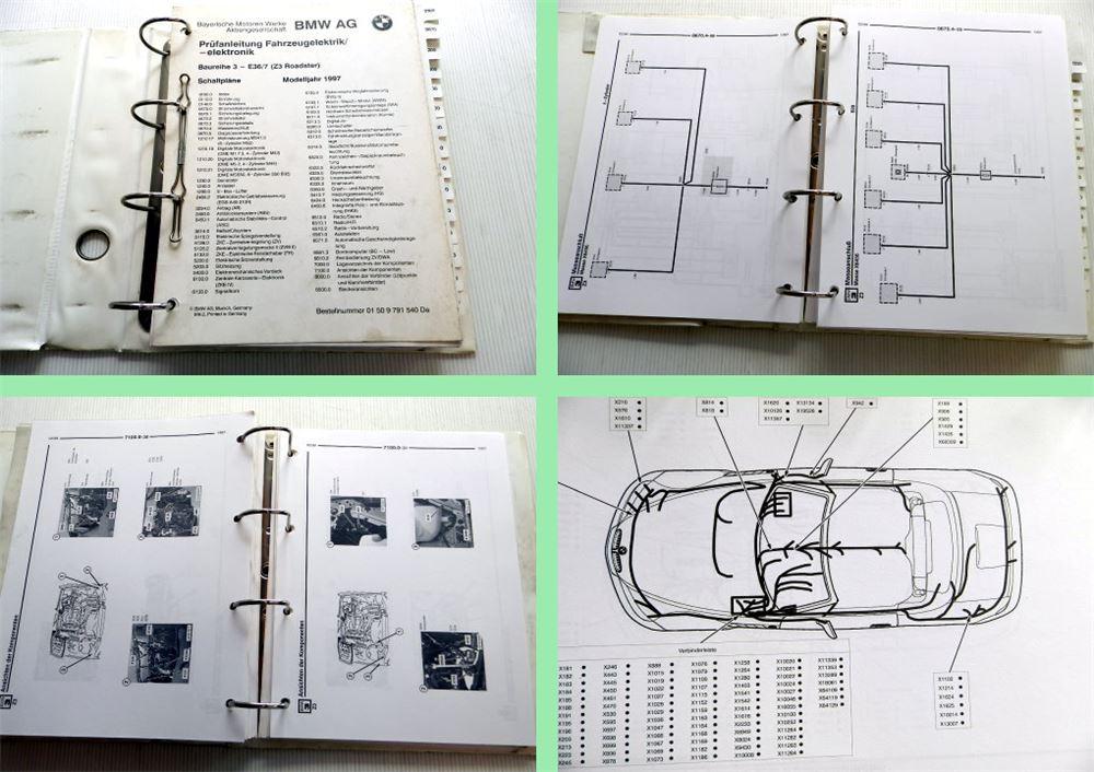bmw z3 roadster e36 7 modelljahr 1997 werkstatthandbuch schaltpl ne elektrik ebay. Black Bedroom Furniture Sets. Home Design Ideas