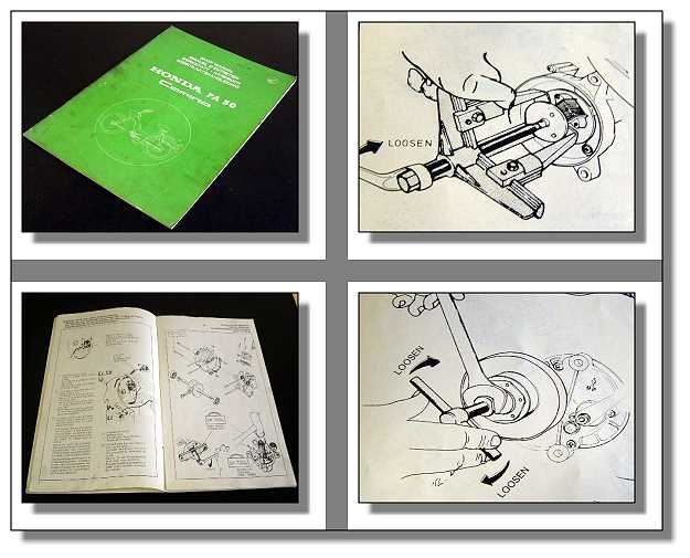 werkstatthandbuch honda pa50 camino shop manual 1976. Black Bedroom Furniture Sets. Home Design Ideas